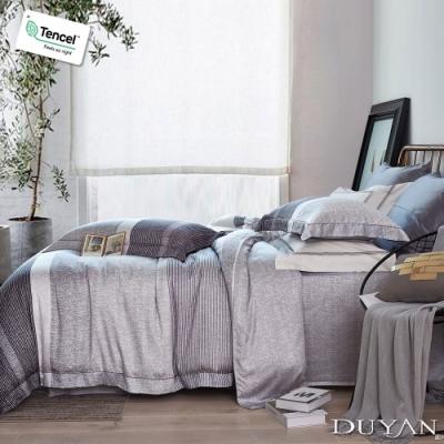 DUYAN竹漾-100%頂級萊塞爾天絲-單人床包+雙人薄被套三件組-唐吉訶德