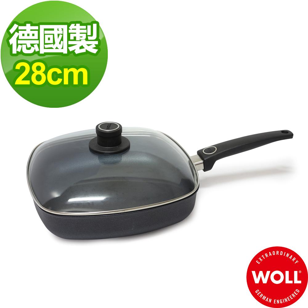 德國 WOLL Saphir Lite藍寶石輕巧系列 28cm方形深鍋組(含蓋+鏟)