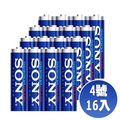 SONY 4號高效能鹼性電池-16顆入