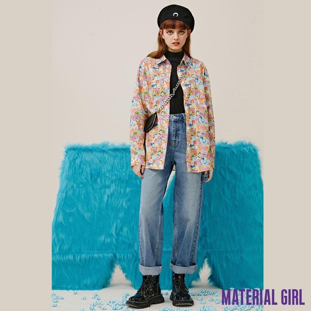 MATERIAL GIRL 小怪獸滿版印花襯衫【20冬季款】-116C0