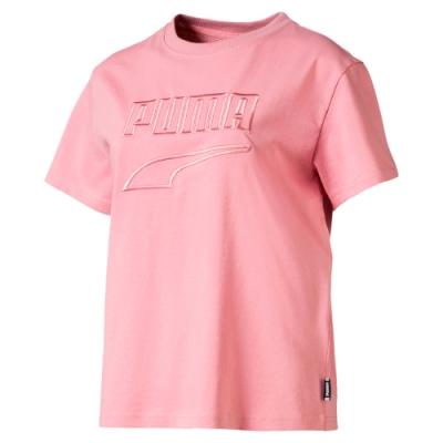 PUMA-女性流行系列Downtown短袖T恤-新娘玫瑰-歐規