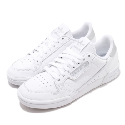 adidas 休閒鞋 Continental 80 復古 女鞋 海外限定 愛迪達 三葉草 基本款 上學 白 銀 EE8925