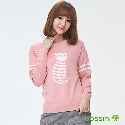 bossini女裝-圓領針織線衫01嫩粉
