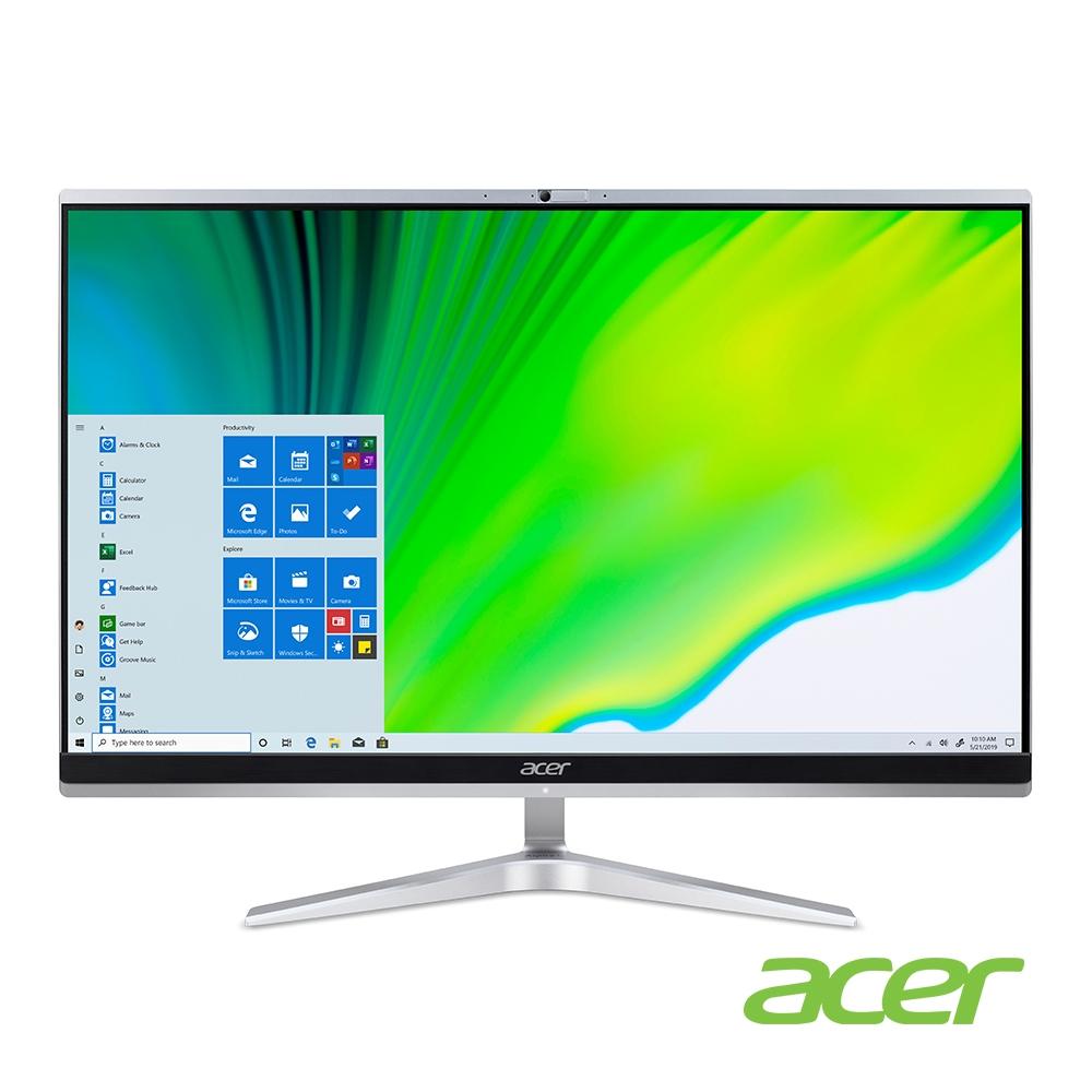 (福利品)Acer C24-1650 11代i5 24型AIO液晶電腦(i5-1135G7/8G/512G/WIN10H)