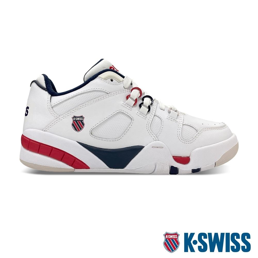 K-SWISS Caprina 復古老爹鞋-女-白/藍/紅