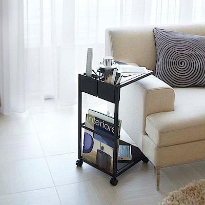 YAMAZAKI萬用邊桌附輪-黑★居家收納/置物架/小物收納32x27.5x55cm