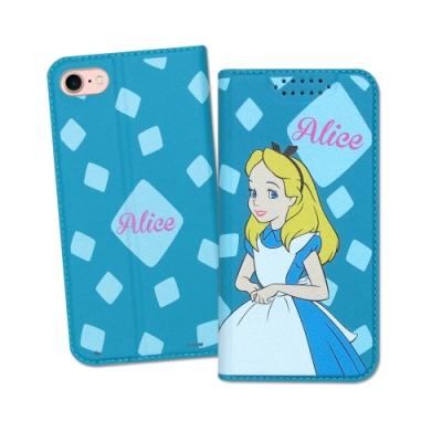 迪士尼授權正版 iPhone SE2/8/7 4.7吋 共用 印花系列彩繪皮套(愛麗絲)