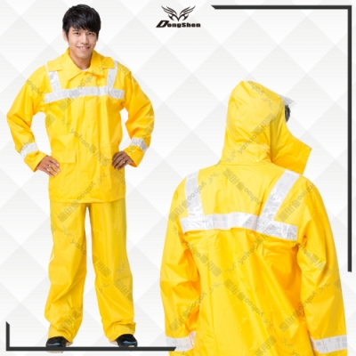 【東伸 DongShen】警巡機車反光兩件式雨衣