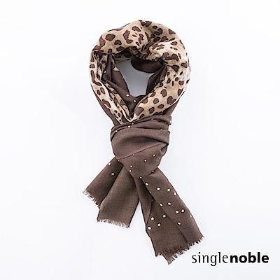 獨身貴族 俏皮女子絲光羊毛豹紋圍巾(3色)