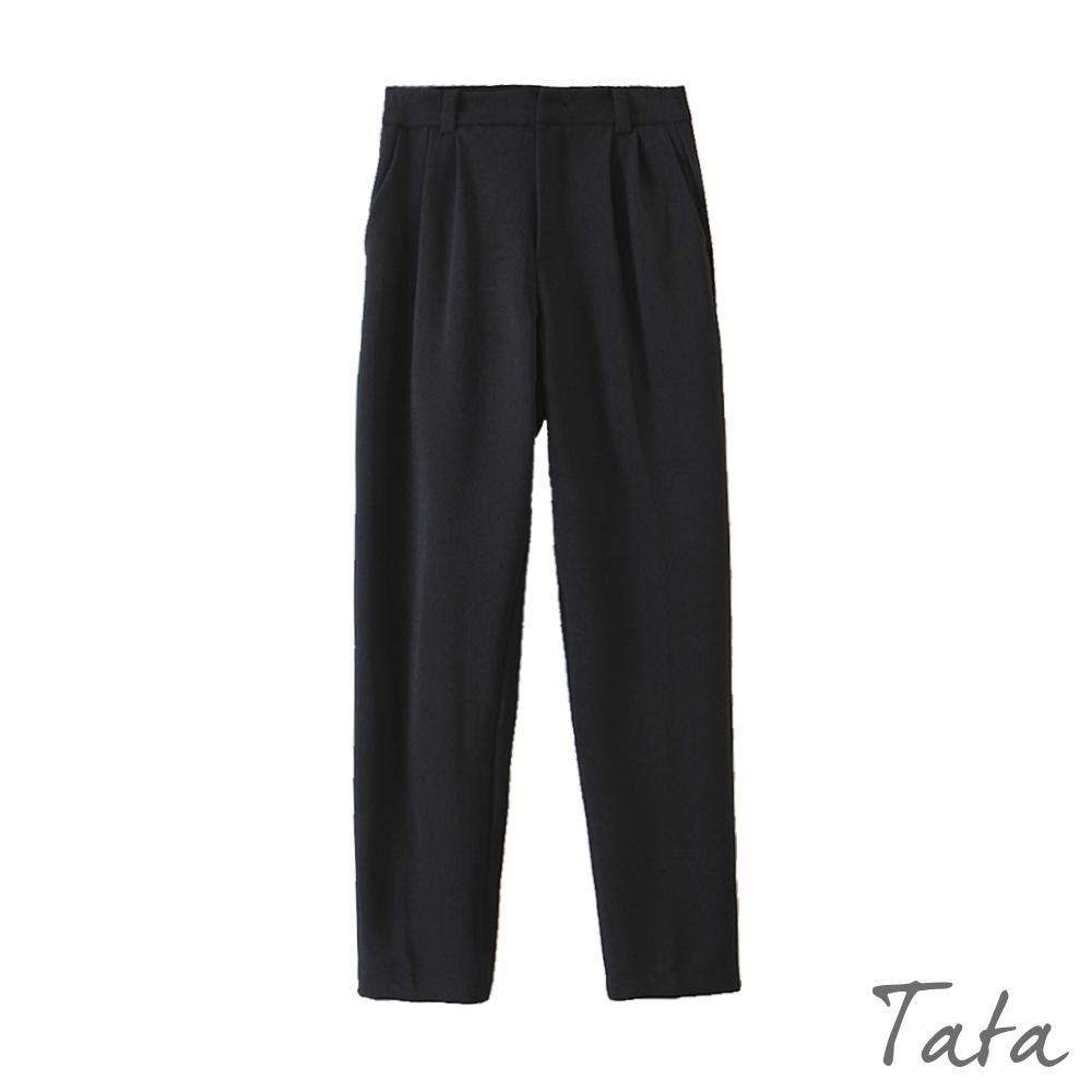 打摺落地西裝褲 共二色 TATA-(S~L) (黑色)