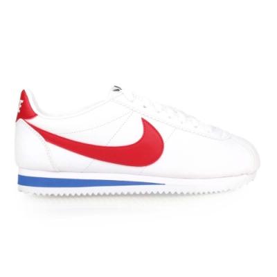 NIKE WMNS CLASSIC CORTEZ LEATHER 女休閒鞋-慢跑 807471103 白紅藍