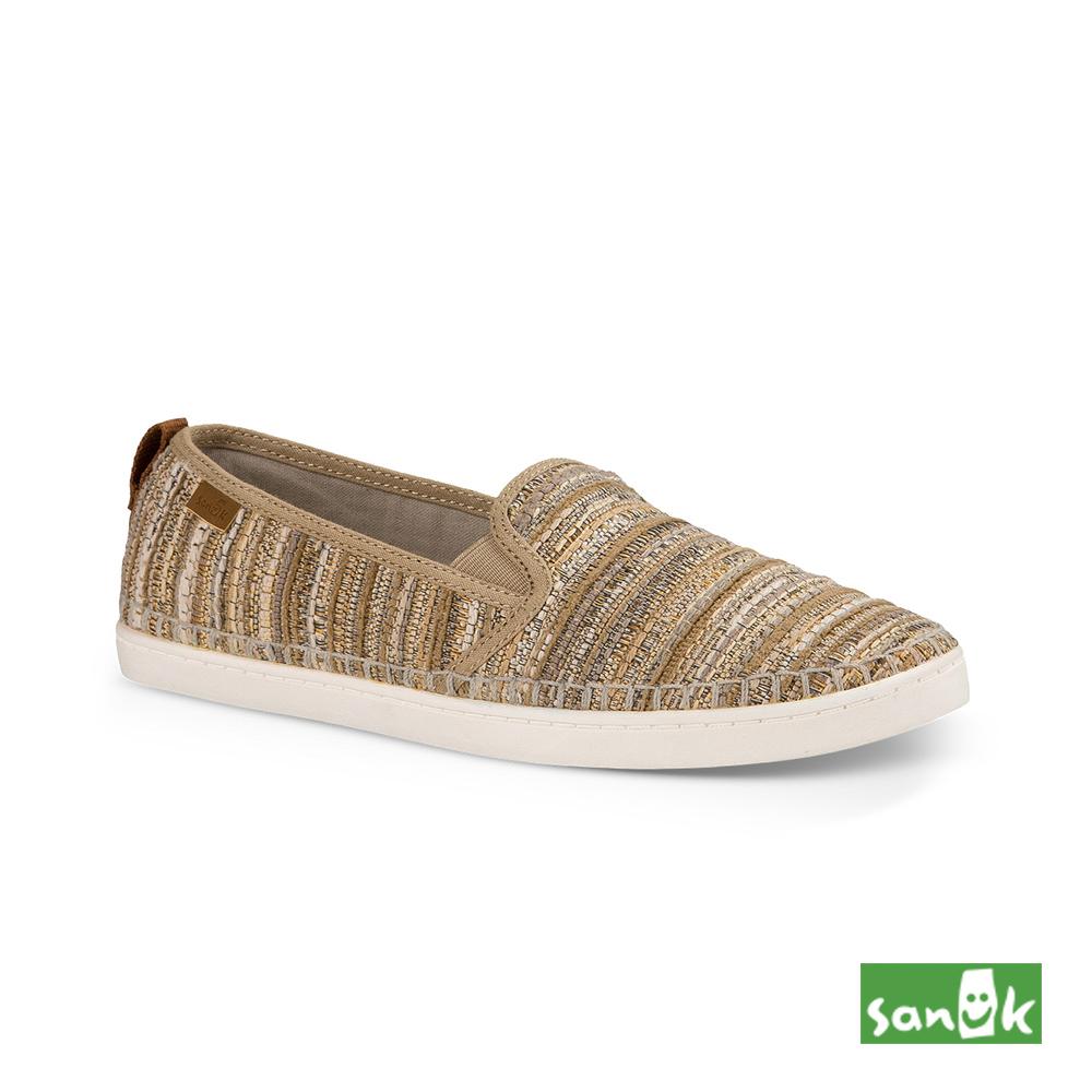 SANUK Valdese Weavers設計編織休閒鞋-女款(米色)1018519 NBH