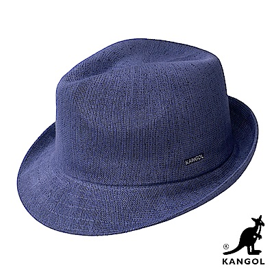 KANGOL紳士帽-藍色