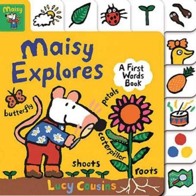 Maisy Explores:A First Words Book 小鼠波波的生活單字書(美國版)