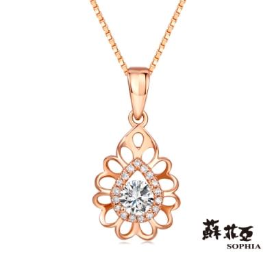 蘇菲亞SOPHIA 鑽鍊-深情0.30克拉FVVS1玫瑰金鑽石項鍊