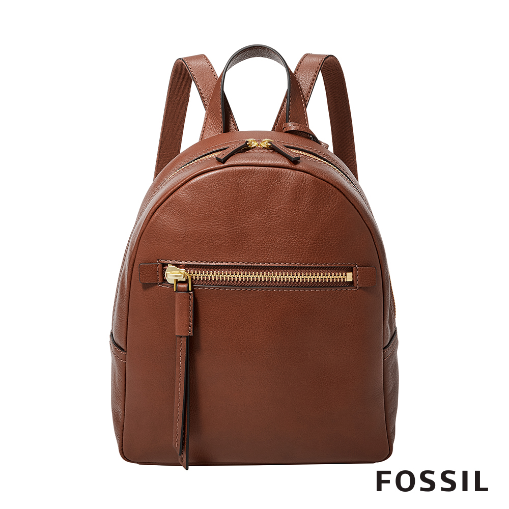 FOSSIL MEGAN 咖啡色真皮迷你背包