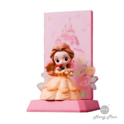 【Hong Man】迪士尼公主系列  貝兒小夜燈 手機無線充電座