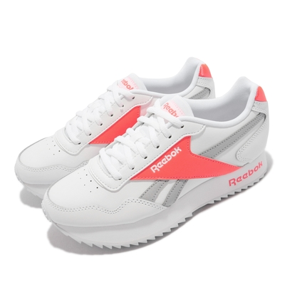 Reebok 休閒鞋 Royal Glide Rpldbl 女鞋 海外限定 球鞋穿搭 厚底 增高 復古 白 橘 FZ3088