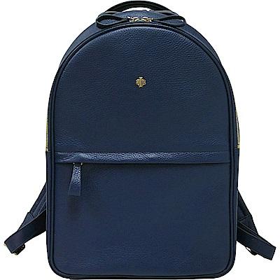 OBBI LAI 深藍色荔枝紋牛皮後背包-L