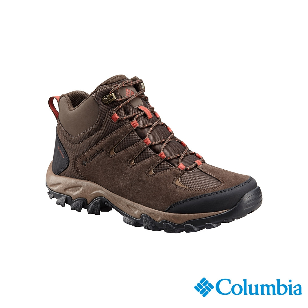 Columbia 哥倫比亞 男款- 防小雨高筒登山鞋-棕色 UBM55270BN