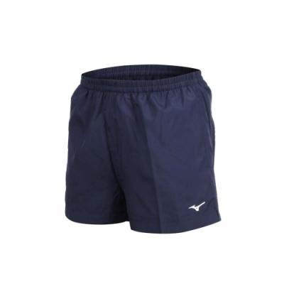 MIZUNO 男路跑短褲-慢跑 健身 訓練 三分褲 美津濃 丈青白