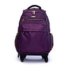 DF Queenin流行 - 商務洽公16吋旅行多功能防潑水拉桿登機行李包-共3色