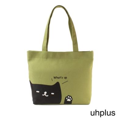 uhplus 輕托特-喵日常- whats up(綠)
