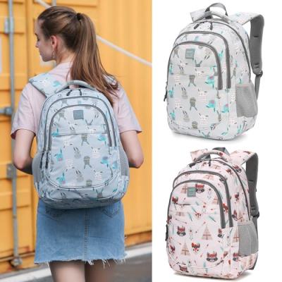 【優貝選】俏皮兔子/可愛浣熊多用途學生書包 後背包3-6年級適用