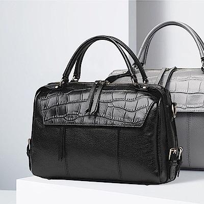 米蘭精品 肩背包真皮手提包-經典高貴鱷魚紋斜背女包母親節生日禮物4色73md38