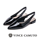 VINCE CAMUTO 微露美感 繫踝帶尖頭低跟鞋-鏡面黑 product thumbnail 1
