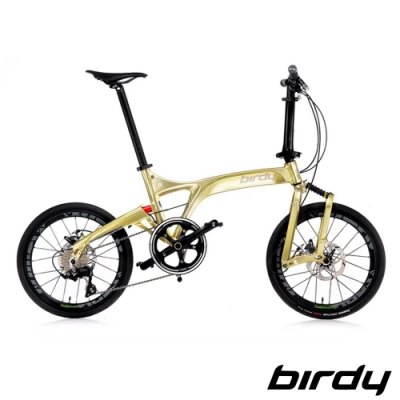 Birdy NewBirdyⅢ R 11SP 11速20吋公路車幾何前後避震折疊車-香檳金