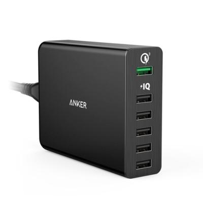美國Anker 6孔Quick Charge 3.0 60W充電器A2063511