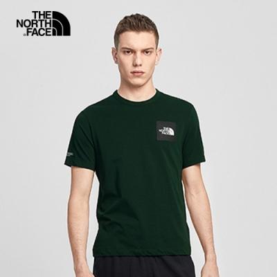 The North Face 男女 背後印花短袖T恤 綠-NF0A4NF9HDB