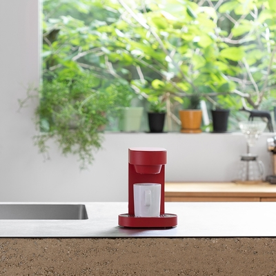 【正負零±0】單杯咖啡機 XKC-E120(紅)