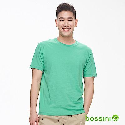 bossini男裝-素色純棉圓領T恤草綠