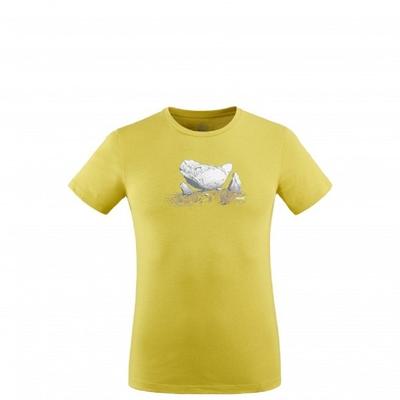 MILLET 男 BOULDER DREAM 有機棉短袖排汗T恤 萊姆黃-MIV83104330
