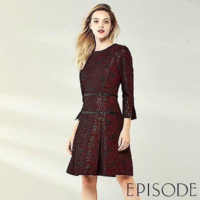 EPISODE - 奪目編織修身洋裝(紅)