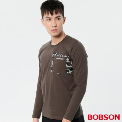 BOBSON 男款迷彩印圖上衣