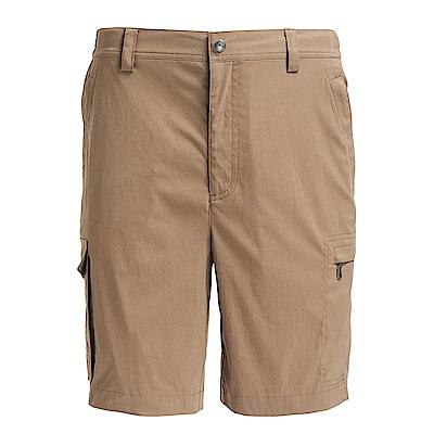 荒野【wildland】男彈性透氣抗UV短褲卡其色