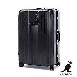 KANGOL-讓世界隨你跳動 80週年紀念款全PC鋁框28吋行李箱 -深灰