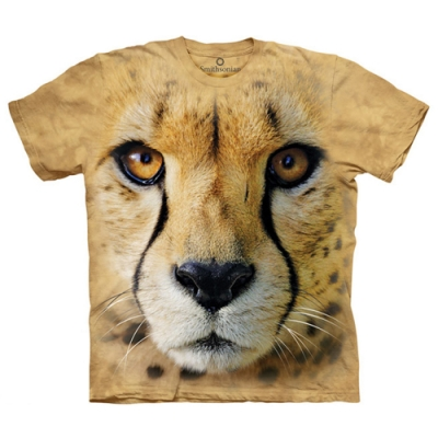 摩達客-美國進口The Mountain 獵豹特寫 純棉環保短袖T恤(現貨)