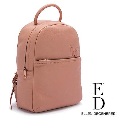 ED Ellen DeGeneres 真皮粉嫩系狗狗後背包-粉色