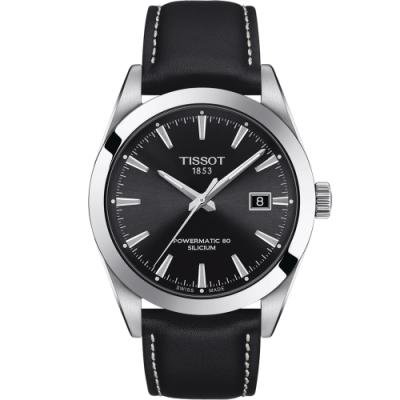 TISSOT 天梭 GENTLEMAN 經典紳士機械錶(T1274071605100)40mm