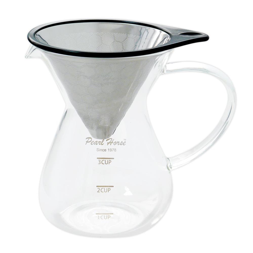 日本寶馬 巴魯尼手沖咖啡壺400ml(蜂巢式單網) TA-G-10-3