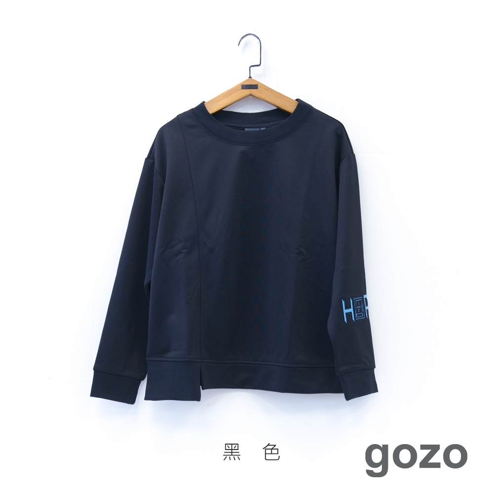 gozo 趣味立體膠印開關鍵大學T(黑色)