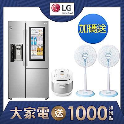 LG樂金 761公升 InstaView WiFi敲敲看門中門冰箱 GR-QPL88SV 精緻銀