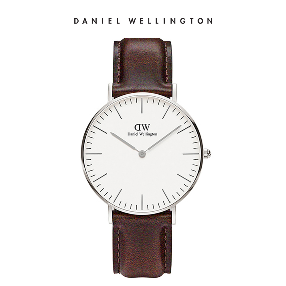 【Daniel Wellington】官方直營 Classic Bristol 36mm深棕真皮皮革錶 DW手錶