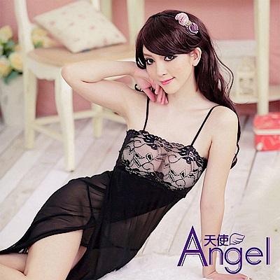 Angel 性感睡衣內衣冰絲薄款絲綢長 BP049