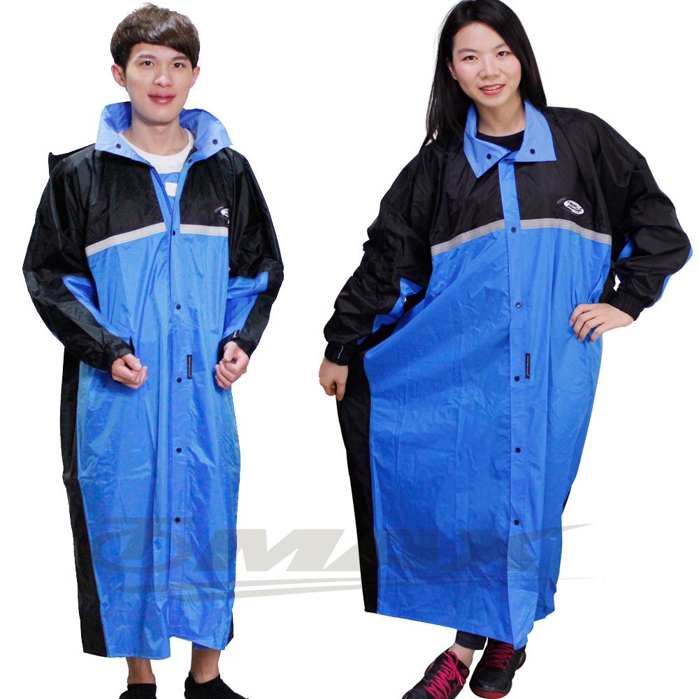 天龍牌競速型尼龍雨衣-5XL大尺寸-黑/藍-快