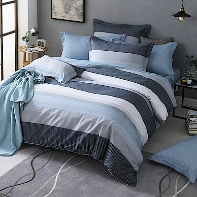 GOLDEN TIME-墨菲定律-200織紗精梳棉-兩用被床包組(特大)